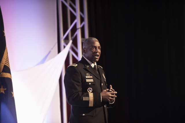 Defense Logistics Agency Director Army Lt. Gen. Darrell K. Williams gave the keynote address June 19 to kick off the 2018 DLA Land and Maritime Supplier Conference and Exposition in downtown Columbus, Ohio. The two-day event featured presentations from public and private-sector leaders and covered an array of topics ranging from performance based logistics to supply chain efficiencies and strategic objectives.
