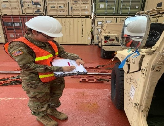 Army Transportation Specialists account for every piece of equipment for Armored Brigade Combat Team