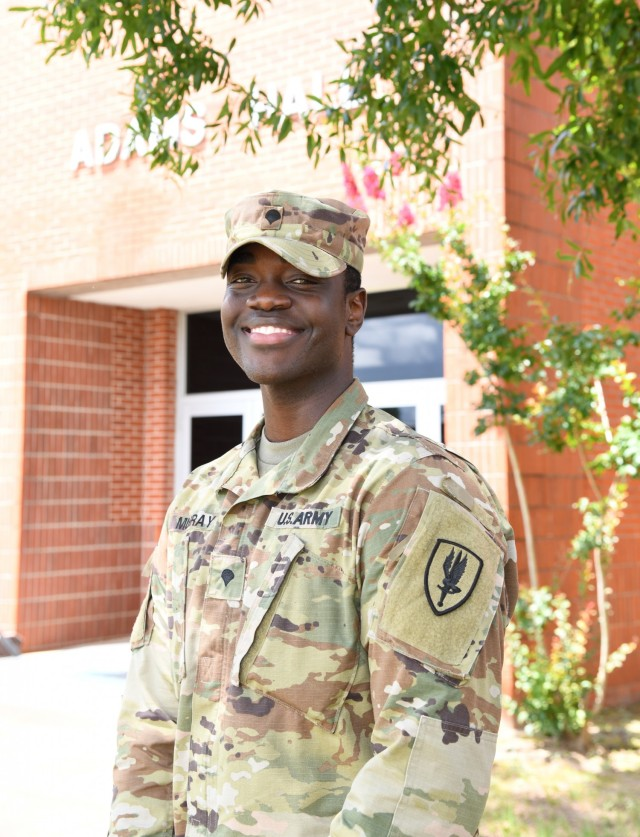 U.S. Army Spc. Robert A. Murray, a supply specialist with Company A, 1st Battalion, 145th Aviation Regiment, 1st Aviation Brigade, became a U.S. citizen while serving at Fort Rucker, Alabama, in April of 2021. (U.S. Army photo by Kelly Morris)