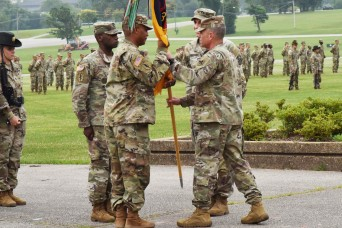 3rd Chemical Brigade says farewell to Hilburgh, welcomes Parker during change-of-command ceremony
