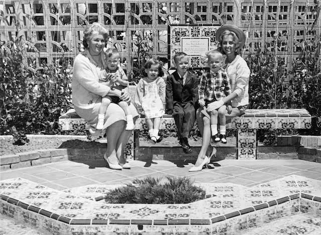Photo courtesy of Gwyn De Amaral The De Amaral family attends the dedication of the fountain memorialized for Maj. Frank De Amaral, Jr., a helicopter pilot who died in Vietnam in 1965, at Presidio of Monterey, Calif. in 1966.