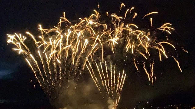 The fireworks were the big finish to a 2-day Independence Day celebration.