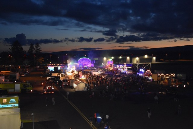 The fest illuminates the night during the evening portion of the July 4 celebration fest.