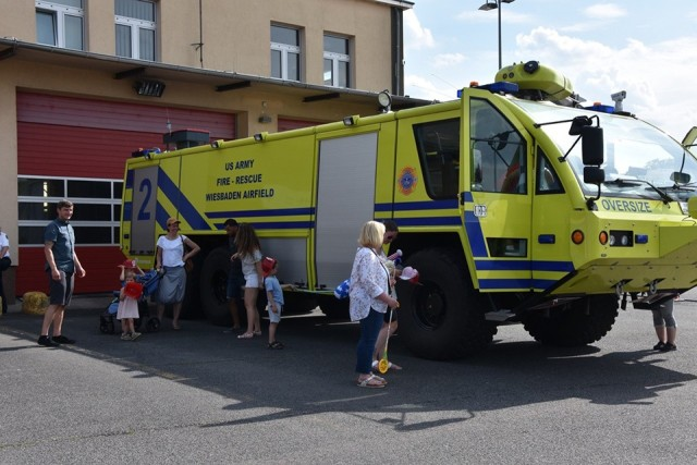 The Garrison Wiesbaden Fire Department brought out one of its trucks for the community to explore during the July 4 fest.