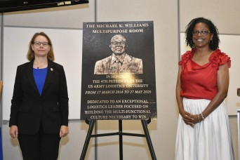 ALU conference area dedicated to past president