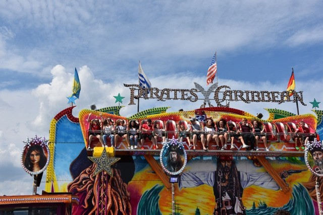 One of the many rides at the fest.