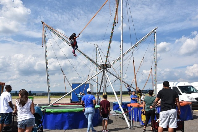 The bungee jump was a popular ride at the fest.