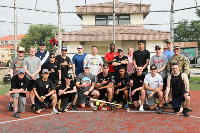 Softball Tournament Trophy Presented