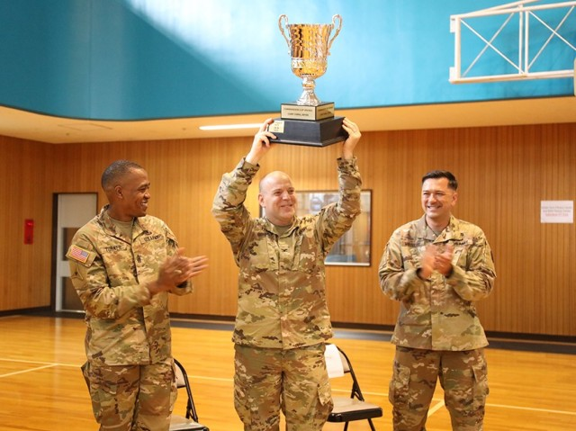 Japan Engineer District wins its first-ever 'Commander's Cup' intramural sports trophy at Camp Zama