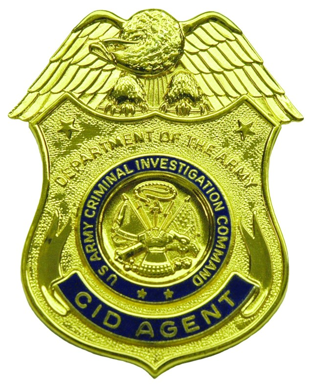 Badge worn by special agents assigned to the U.S. Army Criminal Investigation Command.
