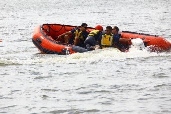 Fort Sill firefighters train on water rescue
