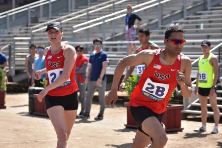 Sgt. Amro Elgeziry, right, will compete in his fourth Olympic Games for the modern pentathlon August 2021 in Tokyo. He is married to fellow World Class Athlete Program member Sgt. Isabella Isaksen, who is pictured left.