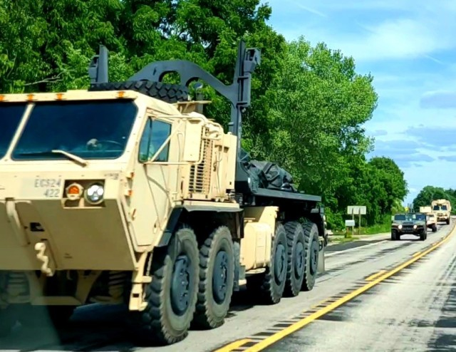 """Training operations are shown July 10, 2021, at Fort McCoy, Wis. Thousands of military members trained at Fort McCoy in 2021 for weekend, extended combat, exercise, and institutional training events. Fort McCoy's motto is to be the """"Total Force Training Center."""" (U.S. Army Photo by Scott T. Sturkol, Public Affairs Office, Fort McCoy, Wis.)"""
