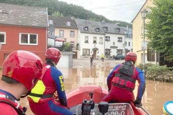 USAG Rheinland-Pfalz employees save lives during historic flooding