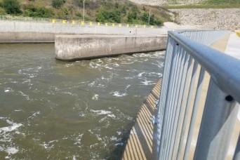 Tuttle Creek Lake stilling basin construction nears completion