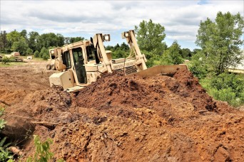 950th Engineer Company Soldiers latest to work on troop project for Fort McCoy DPW area