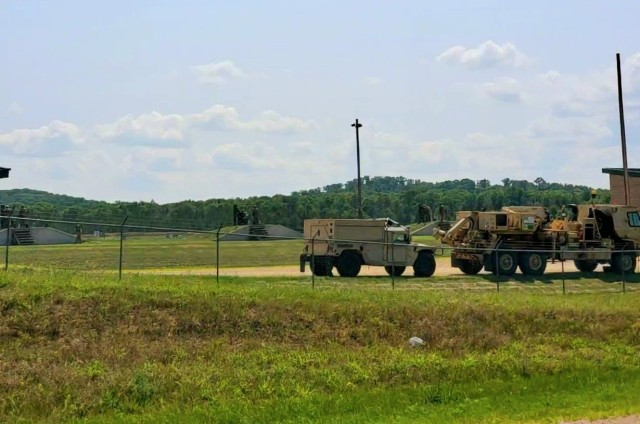 """Training operations are shown July 17, 2021, at Fort McCoy, Wis. Thousands of military members trained at Fort McCoy in 2021 for weekend, extended combat, exercise, and institutional training events. Fort McCoy's motto is to be the """"Total Force Training Center."""" (U.S. Army Photo by Scott T. Sturkol, Public Affairs Office, Fort McCoy, Wis.)"""