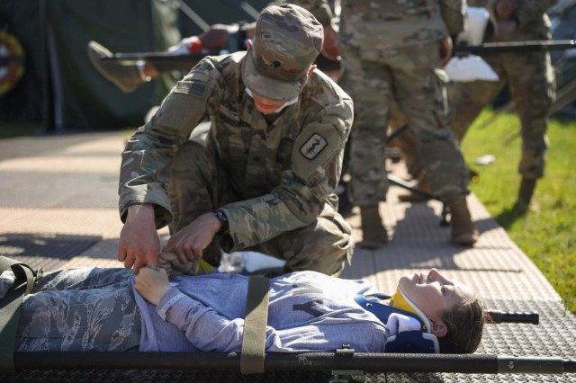 From May 30 through June 4, 2021, the 30th Medical Brigade led multi-national troop response to a simulated battle scenario, including a mass casualty event, as a NATO medical evaluation team observed.  Hanging in the balance was a NATO Role 2 Enhanced certification, validating the 512th FH as capable of providing advanced medical support in the field and meeting NATO's medical doctrine of interoperability. Financial, technical and medical specialist shortages across the NATO nations have increased the profile of multinational support options.
