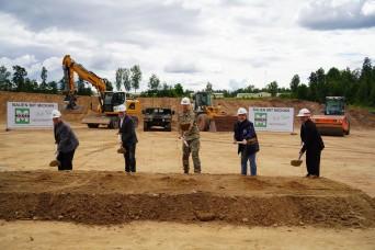 Groundbreaking new vehicle maintenance shop at Grafenwoehr Training Area