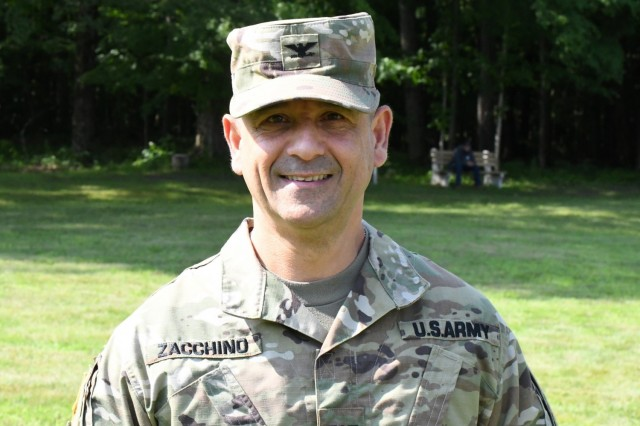 Col. James J. Zacchino Jr., who assumes command of the garrison on July 23, has a history at Fort Drum that goes back four decades. (Photo by Mike Strasser, Fort Drum Garrison Public Affairs)