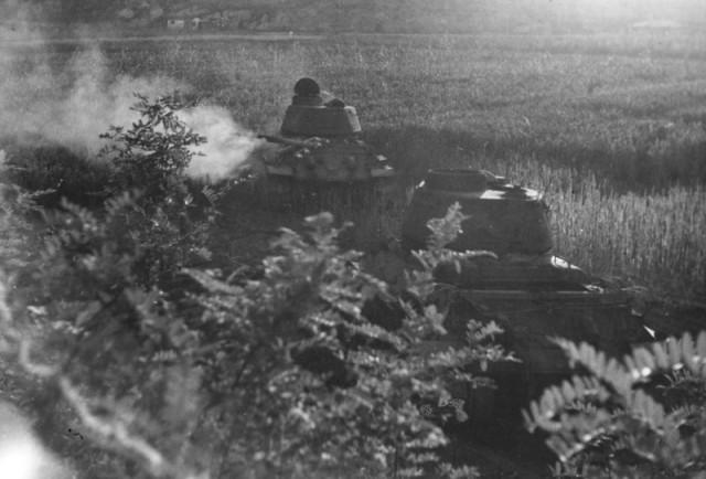North Korean tanks during Korean War