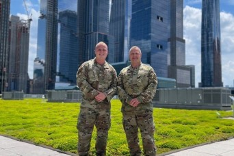 Soldier father and Airman son served together on NY National Guard COVID-19 vaccination mission