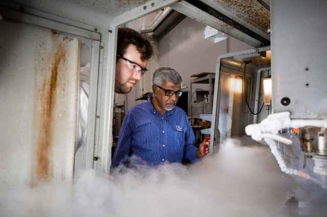 Dr. I. S. Jawahir and his team for a story on the $50 million grant aimed toward improving manufacturing capabilities within the U.S. Army on July 12, 2021.