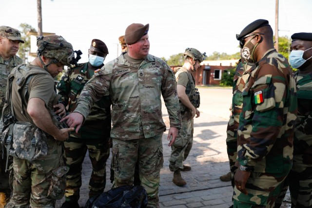 Senegal soldiers observe JRTC training in Louisiana