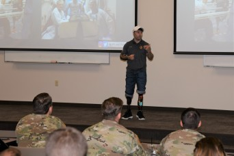 'Never Give Up':  Inspirational speaker brings message of resiliency to Fort Rucker