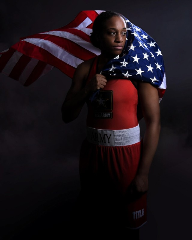 Twelve Soldier-athletes of the World Class Athlete Program are representing Team USA and the Army at the 2020 Summer Olympic Games that kicked off July 23. Staff Sgt. Naomi Graham is boxing for gold in the women's 75kg weight class. The two-time U.S. national champ earned her seat at the games when she won the championship match at the 2019 U.S. Boxing Olympic Trials.