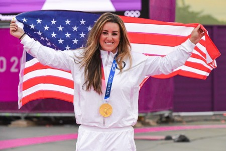 1st Lt. Amber English wins Olympic Gold and sets a new Olympic Record in Women's Skeet Shooting.  English is part of the U.S. Army World Class Athlete Program and the Army Marksmanship Unit.