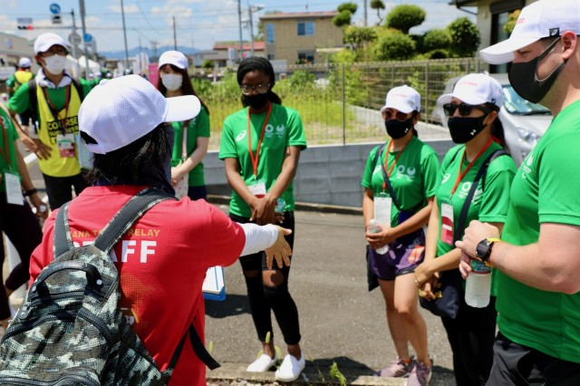 U.S. Army Japan volunteers help local city host Olympic events