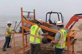 Corps of Engineers begin 2021 Duluth-Superior Harbor maintenance dredging, Minnesota Point beach nourishment