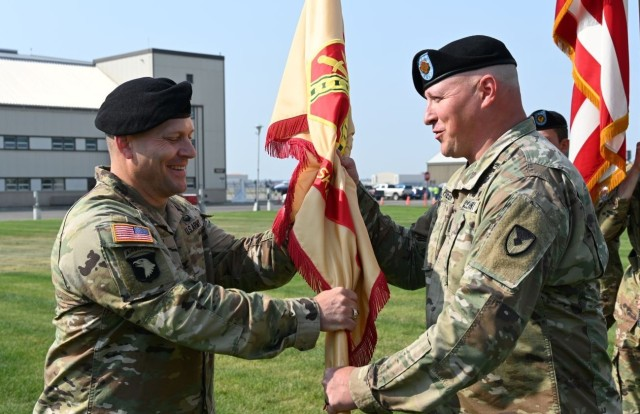 Col. Nate Surrey and Command Sgt. Maj. Rob Preusser at Fort Wainwright