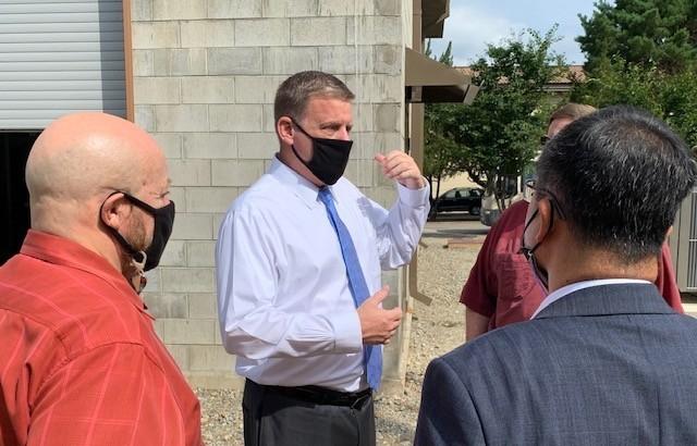 Craig Deatrick, speaks to officials at U.S. Army Garrison Yongsan-Casey