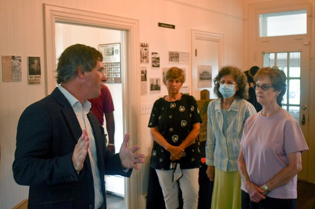 Andrew Newman, Letterkenny historian and records manager, curated the interior displays of the house.