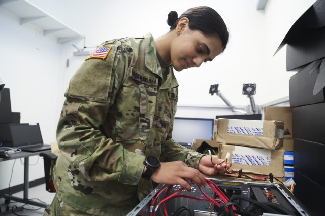 The C5ISR Center welcome nine West Point cadets through the academy's Advanced Individual Academic Development program, which offers cadets the opportunity to spend several weeks immersed in a Center workplace related to their chosen STEM career field.