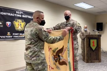 923rd CBN uncases colors following return from deployment
