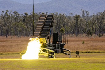 US Army launches Patriot missiles during Exercise Talisman Saber 21