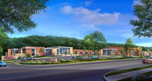 An artist's rendering of the improved Waynesville Middle School, which was dedicated during a ribbon-cutting ceremony and open house event Aug. 9.