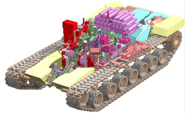 Solid Geometry Model of a Tank