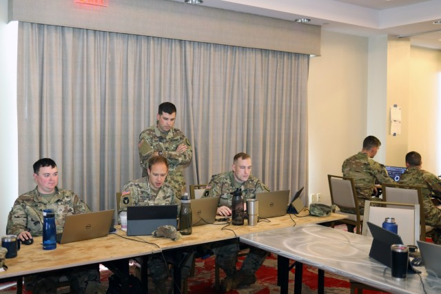 Hanover, Md. – U.S. Army National Guard Soldiers from four Cyber Protection Teams (CPT) completed their validation exercise (VALEX) in Maryland in July. U.S. Cyber Command establishes the criteria for a CPT to attain Full Operational Capability and the VALEX is an event the evaluators use to access the team's performance.