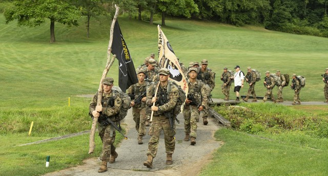 Members of the U.S. Military Academy Class of 2025, USMA leadership, staff, faculty and old grads participated in a 12-mile road march, also known as March Back, Monday. March Back is the new cadets' final challenge of Cadet Basic Training. A ceremonial celebration will occur on Saturday during the Acceptance Day Parade, where they will officially join the Corps of Cadets.
