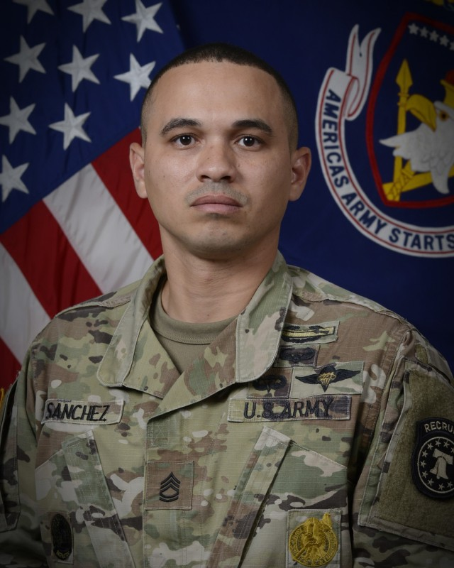 Sgt. 1st Class Joel Sanchez, Fort Knox, Kentucky, was named TRADOC 2021 Noncommissioned Officer Instructor of the Year.
