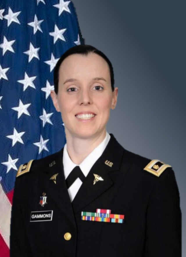 Maj. Jordan Gammons, Joint Base – Fort Sam Houston, Texas, was named TRADOC 2021 Officer Instructor of the Year.