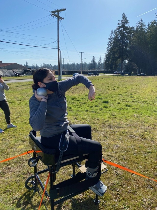 Cpl. Mary Velis trains and competes in the 2021 Army Trials. (Photo via Cpl. Mary Velis)