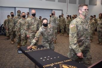 Chaplain students receive regimental pins