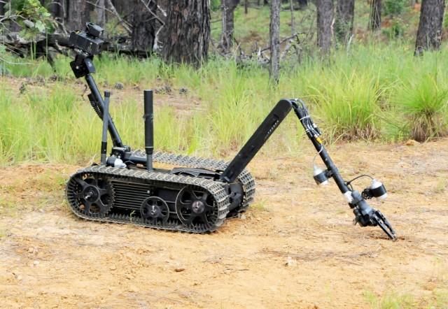 The Talon, a remote control robot used to investigate potential hazards.