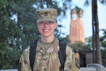 Aviation Soldier departs Fort Rucker for Green to Gold program