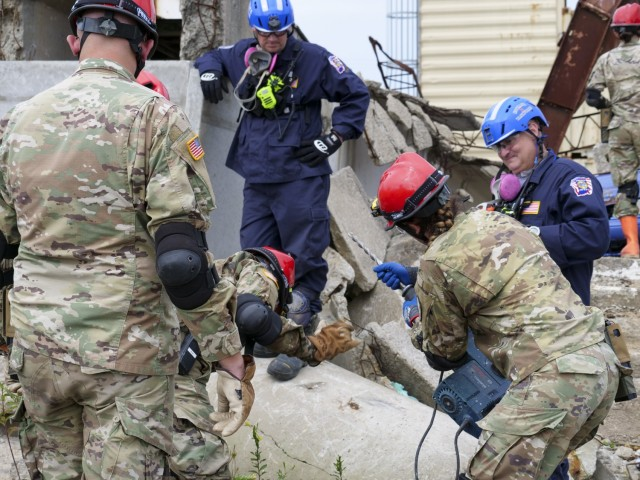 Indiana National Guard practices disaster response